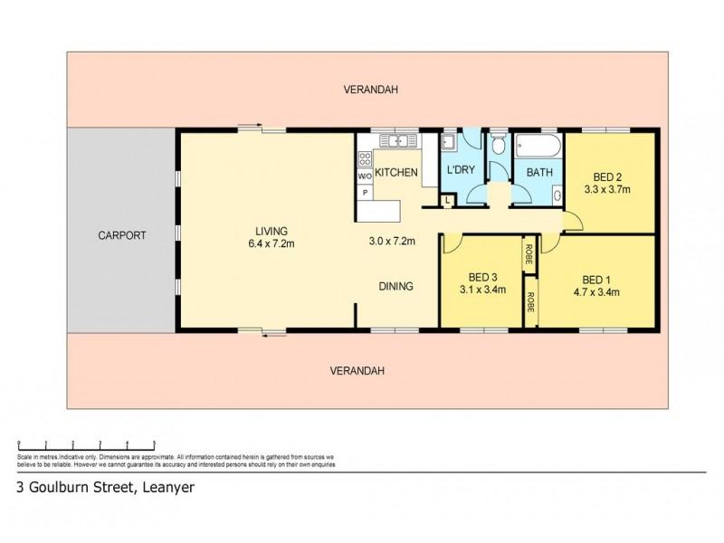 3 Goulburn Street, Leanyer NT 0812 Floorplan