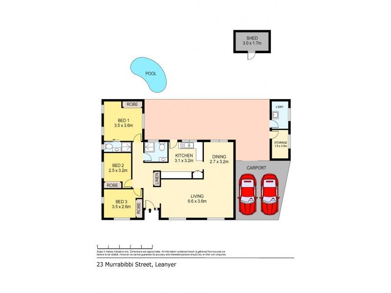 23 Murrabibbi Street, Leanyer NT 0812 Floorplan