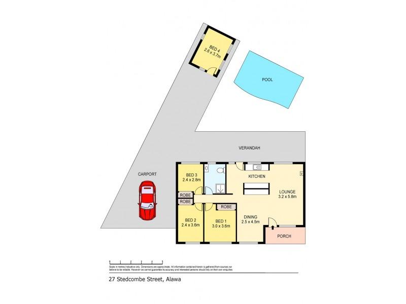 27 Stedcombe Street, Alawa NT 0810 Floorplan