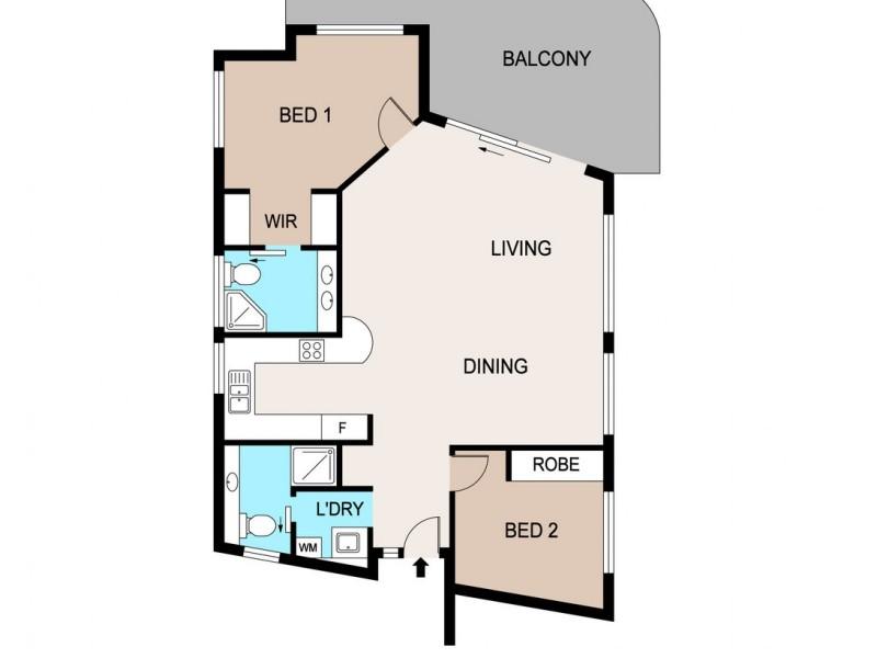37/6 Marina Boulevard, Cullen Bay NT 0820 Floorplan
