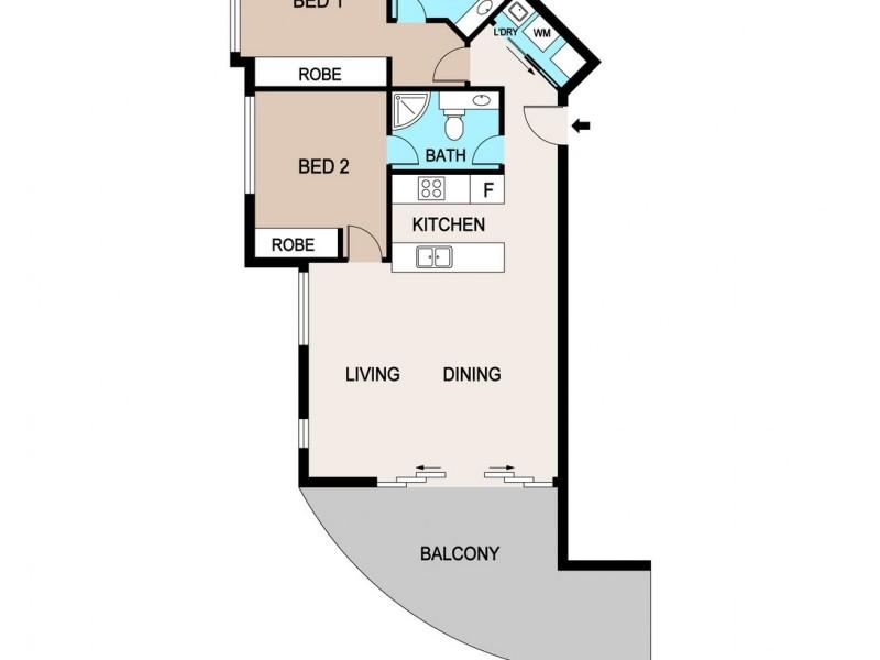 6/14 Coronation Drive, Stuart Park NT 0820 Floorplan