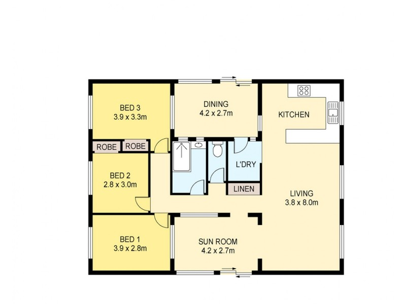10 Saddle Court, Leanyer NT 0812 Floorplan