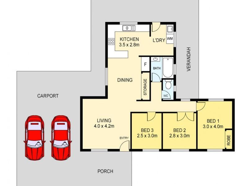 52 Glencoe Crescent, Tiwi NT 0810 Floorplan
