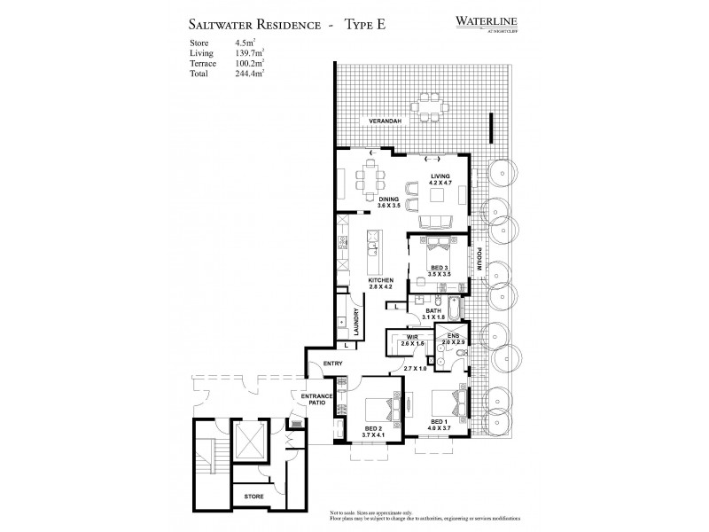 303/71 Progress Drive, Nightcliff NT 0810 Floorplan