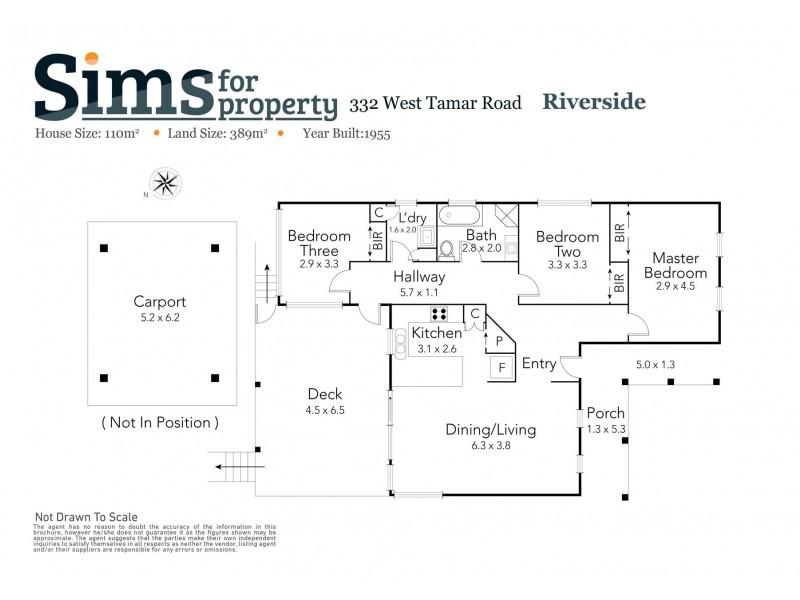 332 West Tamar Road, Riverside TAS 7250 Floorplan