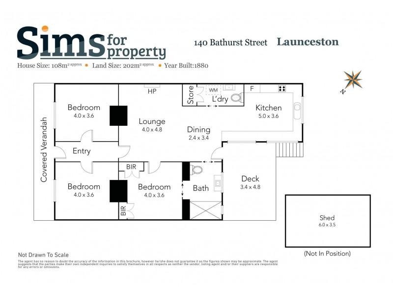 140 Bathurst Street, Launceston TAS 7250 Floorplan