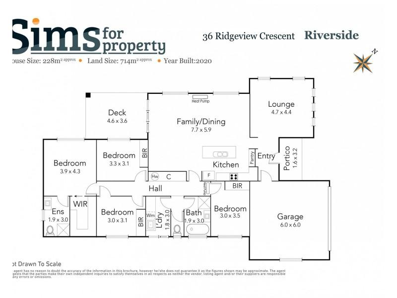 36 Ridgeview Crescent, Riverside TAS 7250 Floorplan
