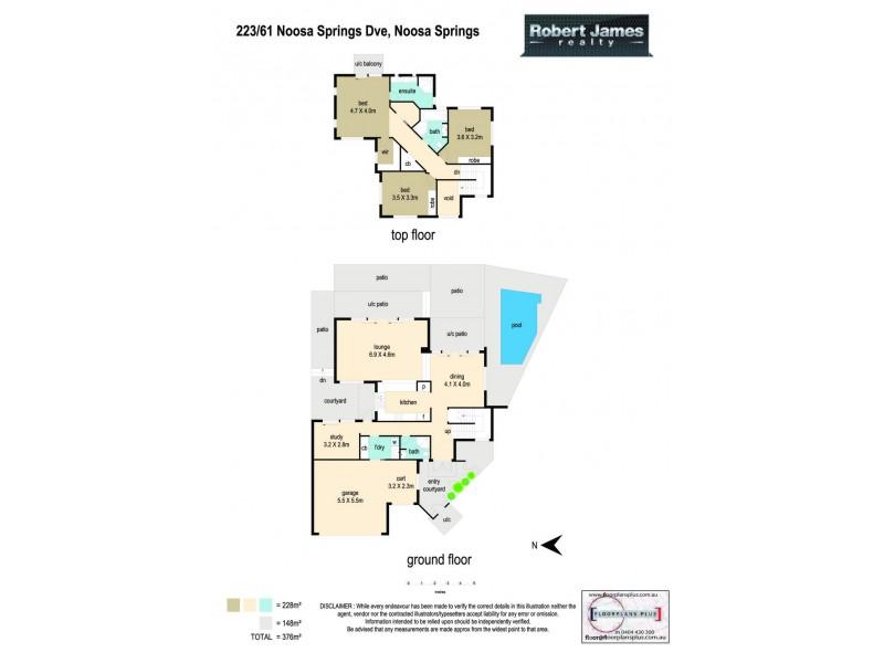223 Noosa Springs Drive, Noosa Springs QLD 4567 Floorplan