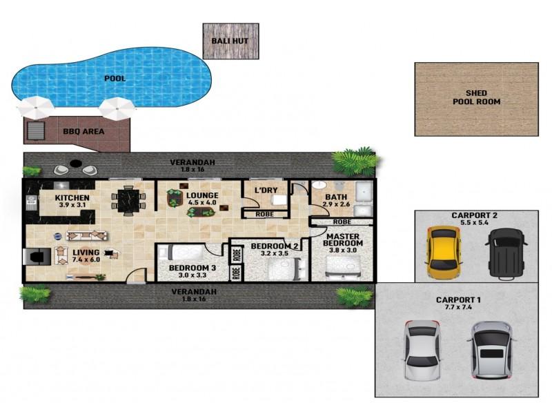 38 – 40 Morning Glory Drive, Cooroibah QLD 4565 Floorplan
