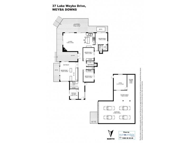 37 Lake Weyba Drive, Weyba Downs QLD 4562 Floorplan