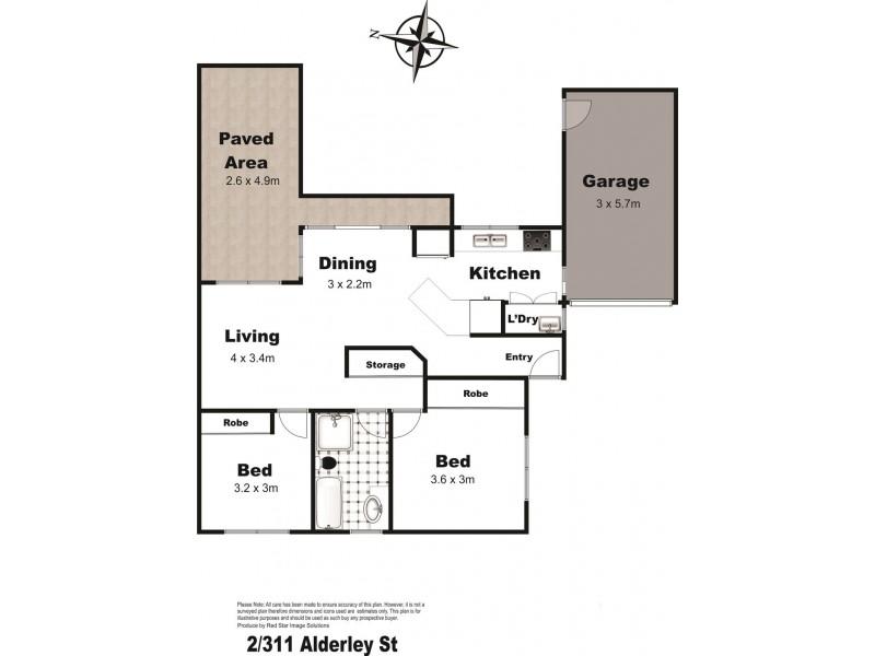 2/311 Alderley Street, South Toowoomba QLD 4350 Floorplan