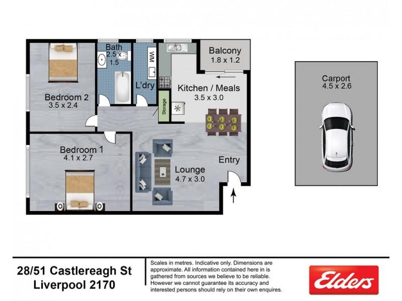 28/51 Castlereagh Street, Liverpool NSW 2170 Floorplan