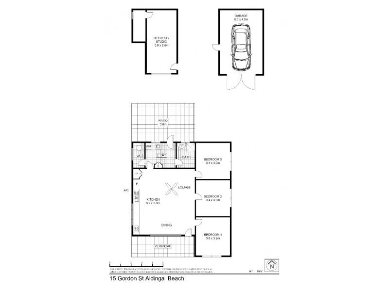 15 Gordon Street, Aldinga Beach SA 5173 Floorplan
