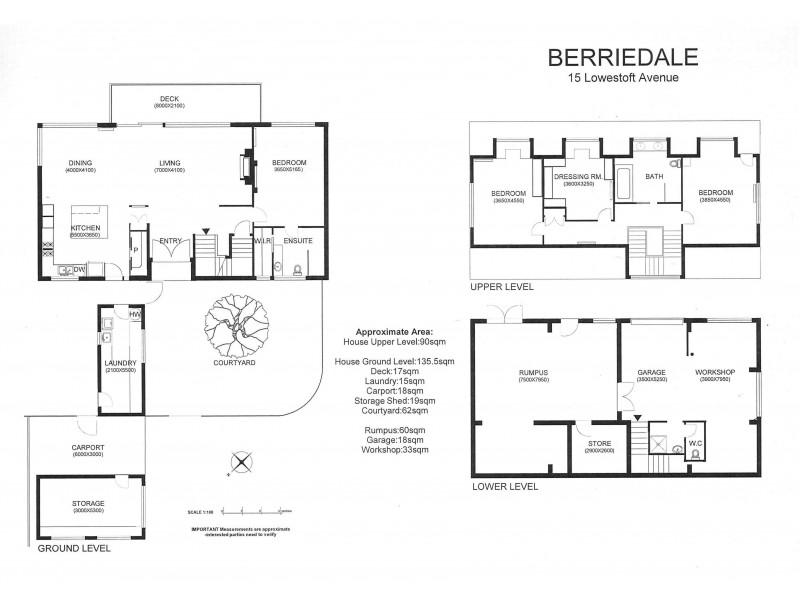 Berriedale TAS 7011 Floorplan