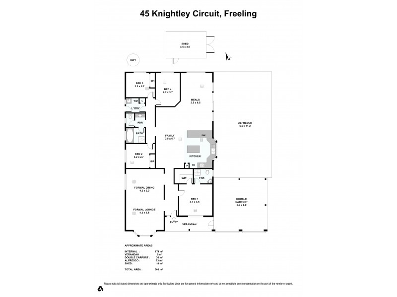 45 Knightley Circuit, Freeling SA 5372 Floorplan