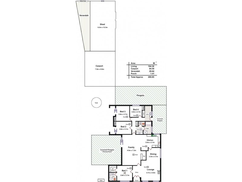 12 Whiteman Road, Williamstown SA 5351 Floorplan
