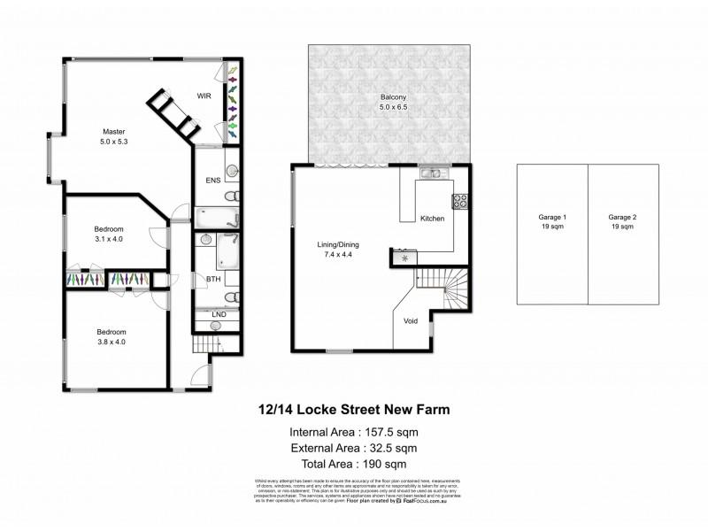 12/14 Locke Street, New Farm QLD 4005 Floorplan