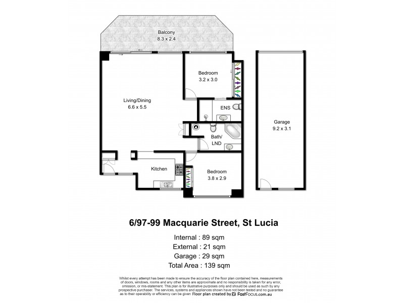 6/97-99 Macquarie Street, St Lucia QLD 4067 Floorplan