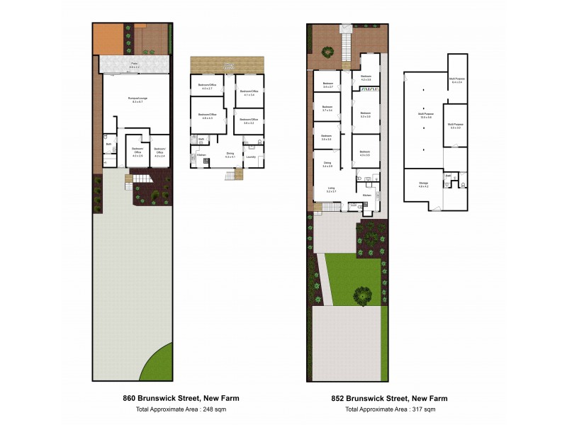852 and 860 Brunswick Street, New Farm QLD 4005 Floorplan