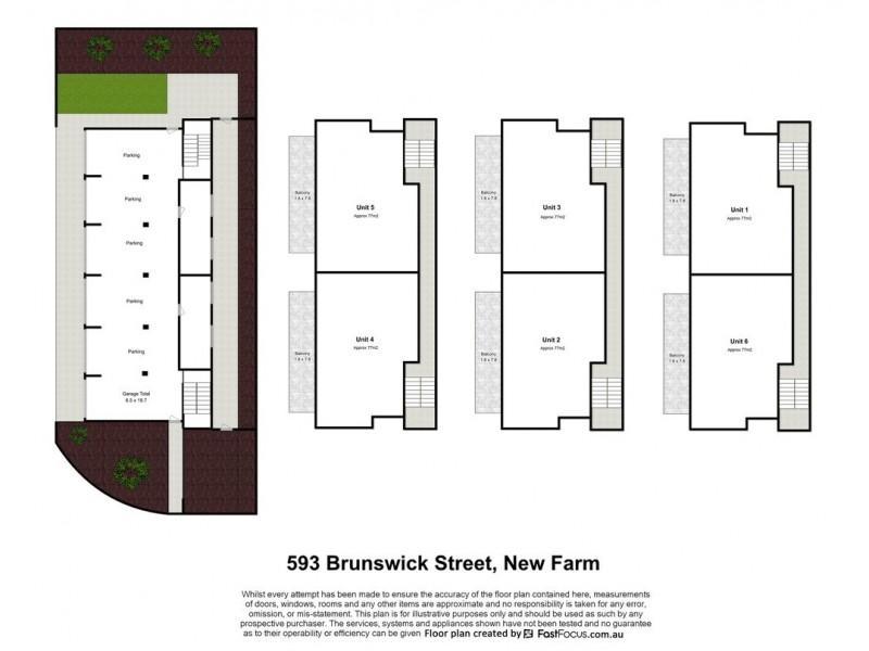 593 Brunswick Street, New Farm QLD 4005 Floorplan
