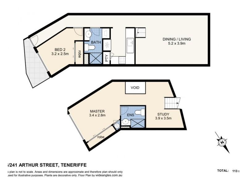 46/241 Arthur St, Teneriffe QLD 4005 Floorplan