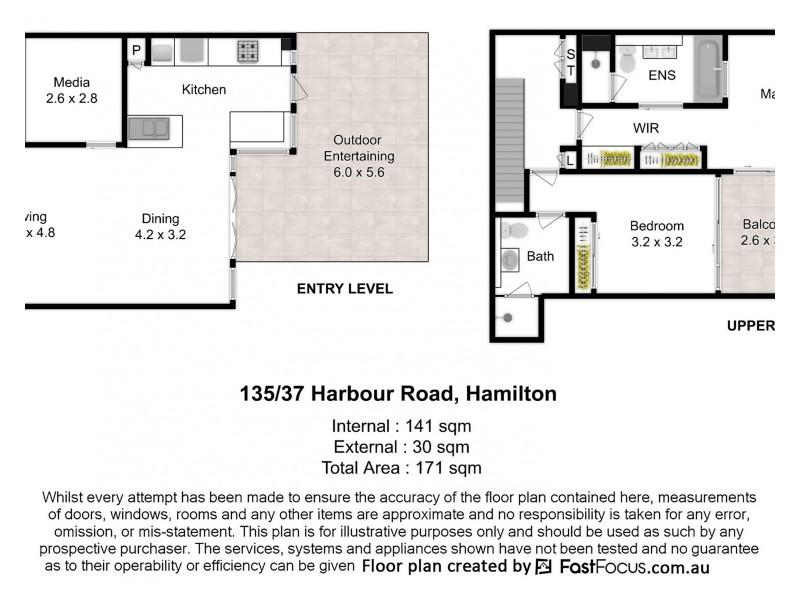 135/37 Harbour Road, Hamilton QLD 4007 Floorplan