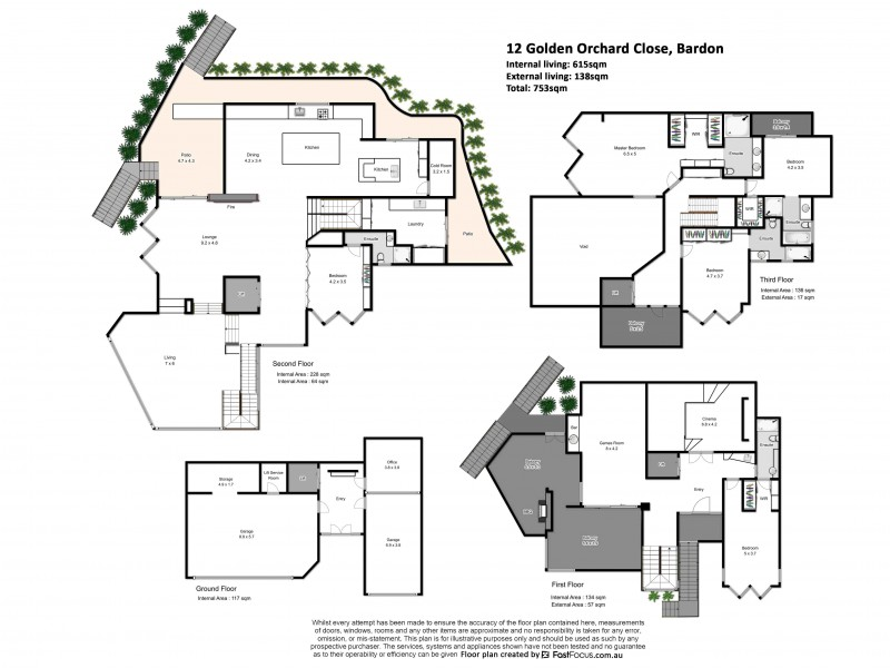 12 Golden Orchid Close, Bardon QLD 4065 Floorplan
