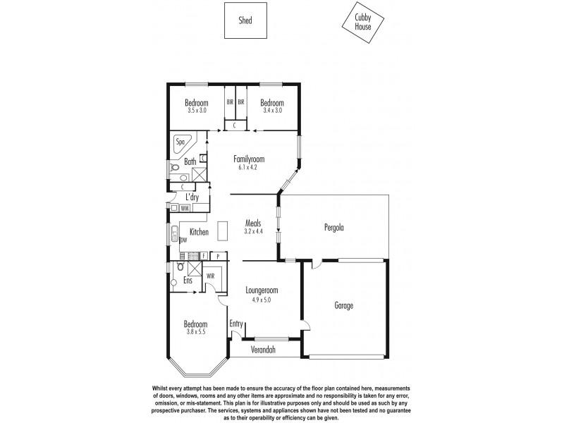 8 Monique Crt, Aspendale Gardens VIC 3195 Floorplan