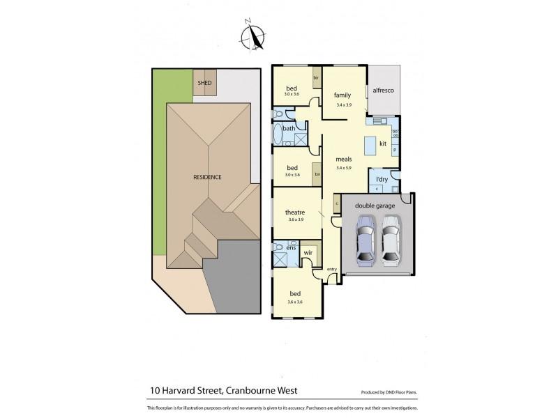 10 Harvard Street, Cranbourne West VIC 3977 Floorplan