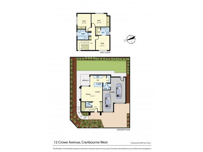 12 Crowe Avenue, Cranbourne West VIC 3977 Floorplan