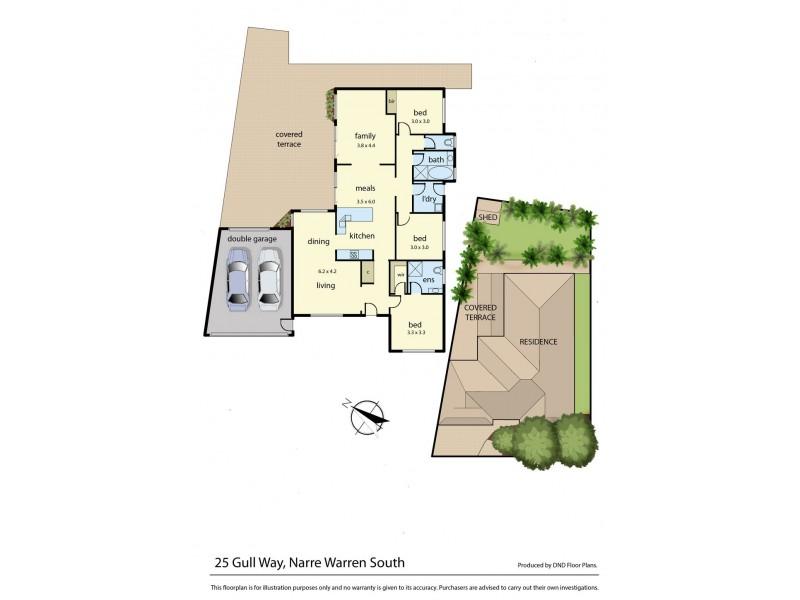 25 Gull Way, Narre Warren South VIC 3805 Floorplan