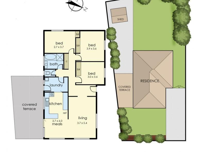 27 Blaxland Avenue, Cranbourne North VIC 3977 Floorplan