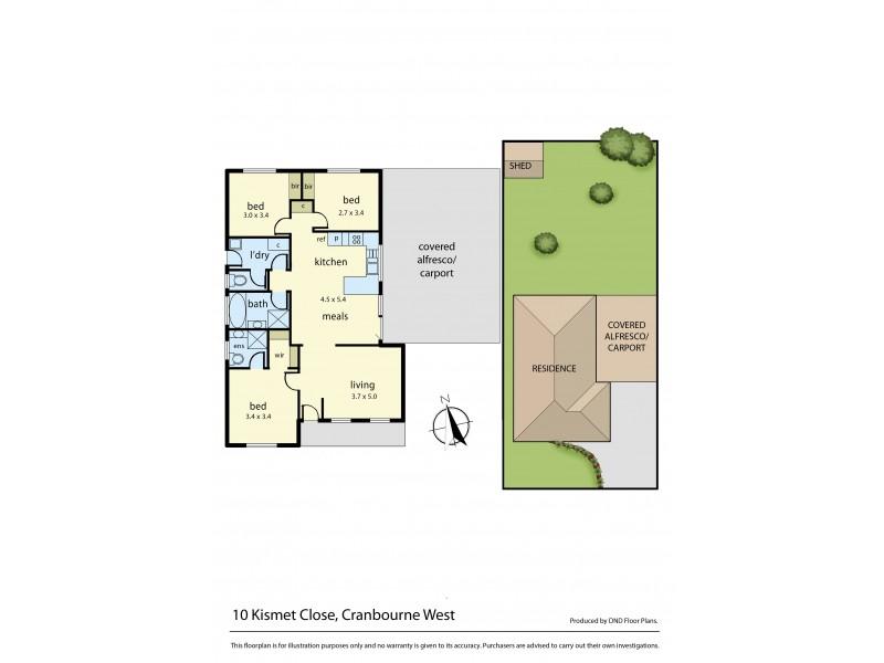 10 Kismet Close, Cranbourne West VIC 3977 Floorplan