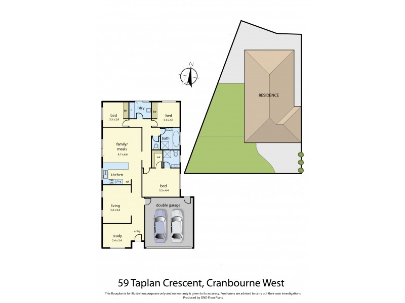 59 Taplan Crescent, Cranbourne West VIC 3977 Floorplan