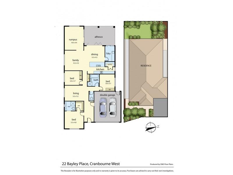 22 Bayley Place, Cranbourne West VIC 3977 Floorplan