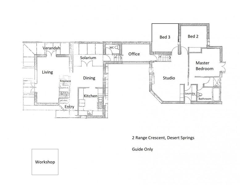 2 Range Crescent, Desert Springs NT 0870 Floorplan