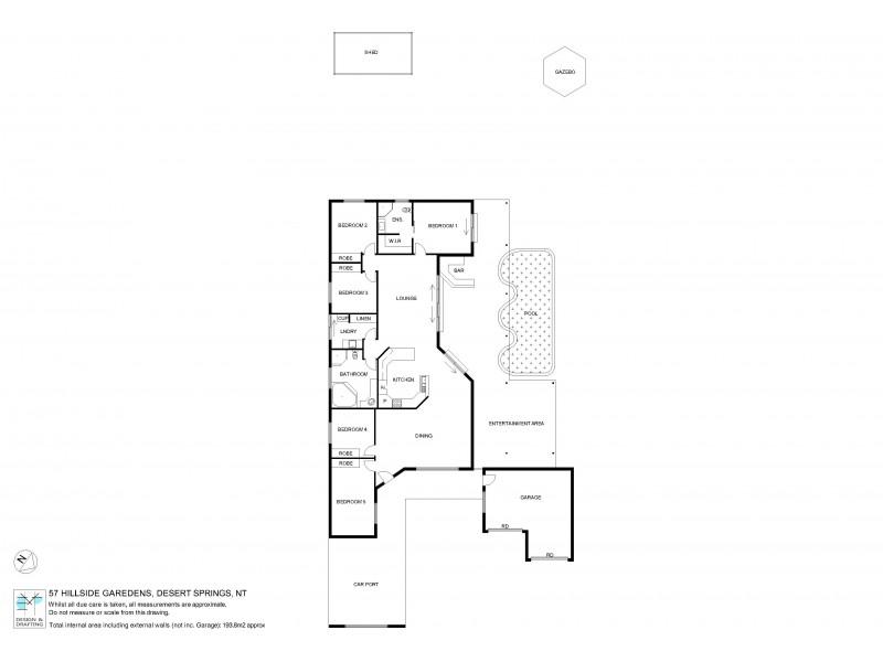 57 Hillside Gardens, Desert Springs NT 0870 Floorplan