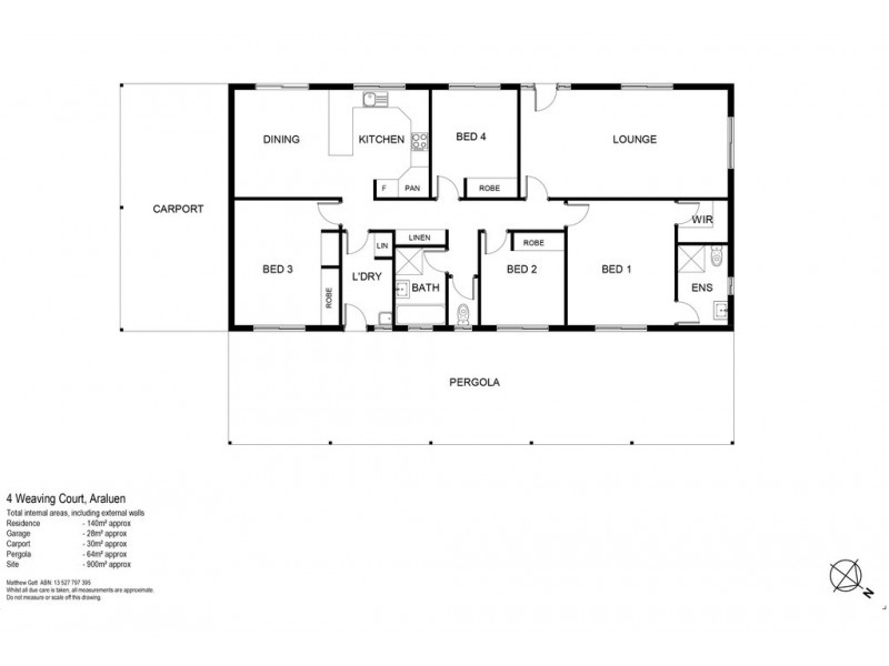 4 Weaving Court, Araluen NT 0870 Floorplan