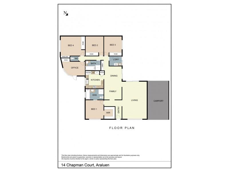 14 Chapman Court, Araluen NT 0870 Floorplan