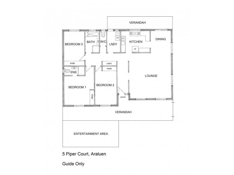 5 PIPER COURT, Araluen NT 0870 Floorplan