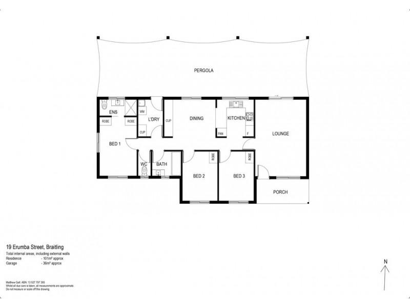 19 Erumba St, Braitling NT 0870 Floorplan