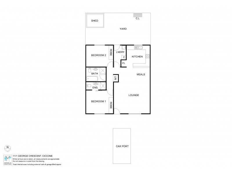 11/1 George Crescent, Ciccone NT 0870 Floorplan