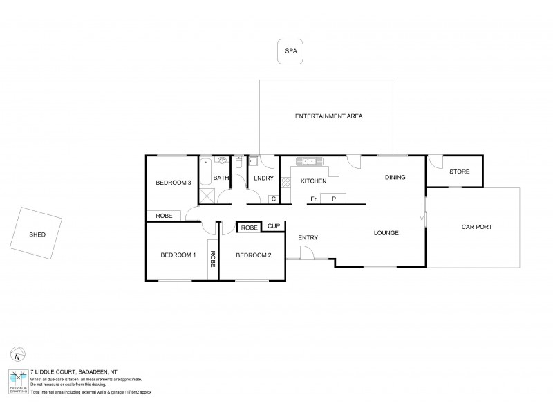 7 Liddle Court, Sadadeen NT 0870 Floorplan