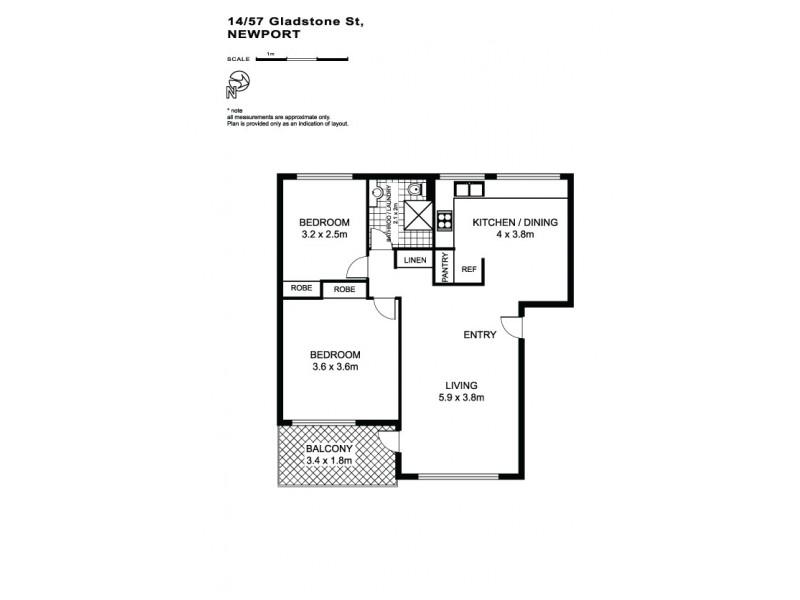 14/57 Gladstone Street, Newport NSW 2106 Floorplan