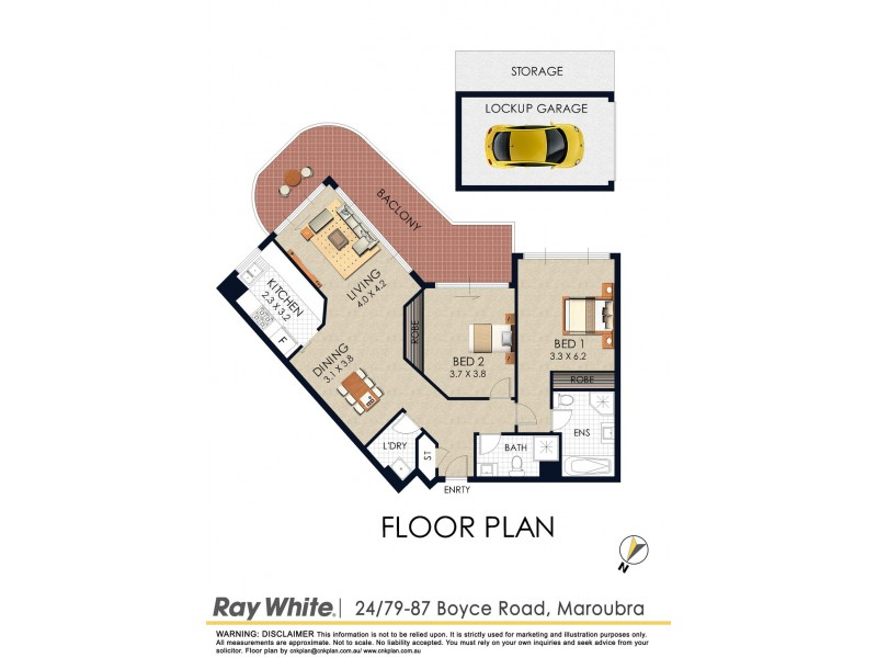 24/79 Boyce Road, Maroubra NSW 2035 Floorplan