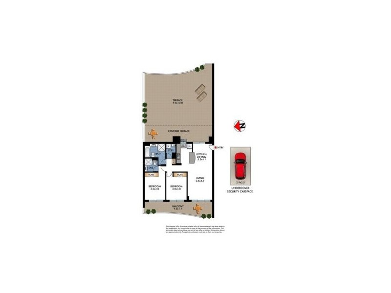 45/301-303 Anzac Parade, Kingsford NSW 2032 Floorplan