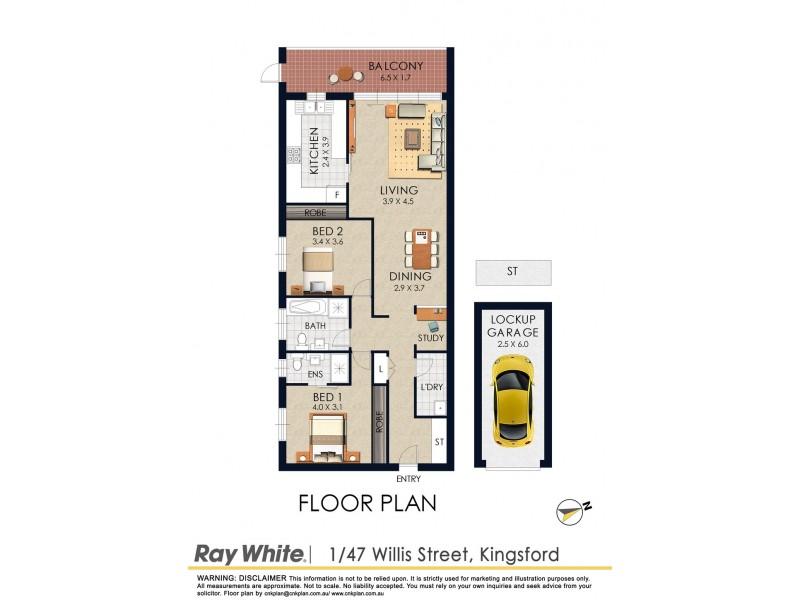 1/47-49 Willis Street, Kingsford NSW 2032 Floorplan