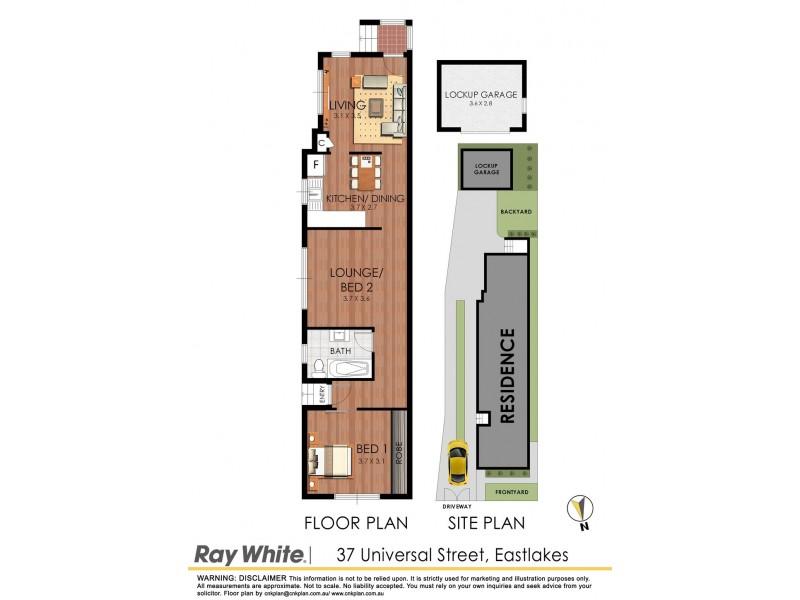 37 Universal Street, Eastlakes NSW 2018 Floorplan
