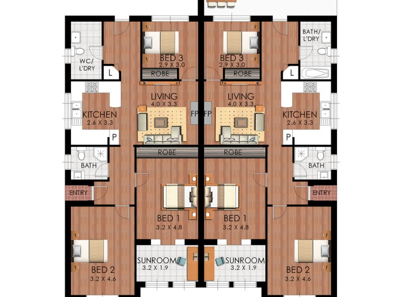 2 and 4 Walker Ave, Mascot NSW 2020 Floorplan