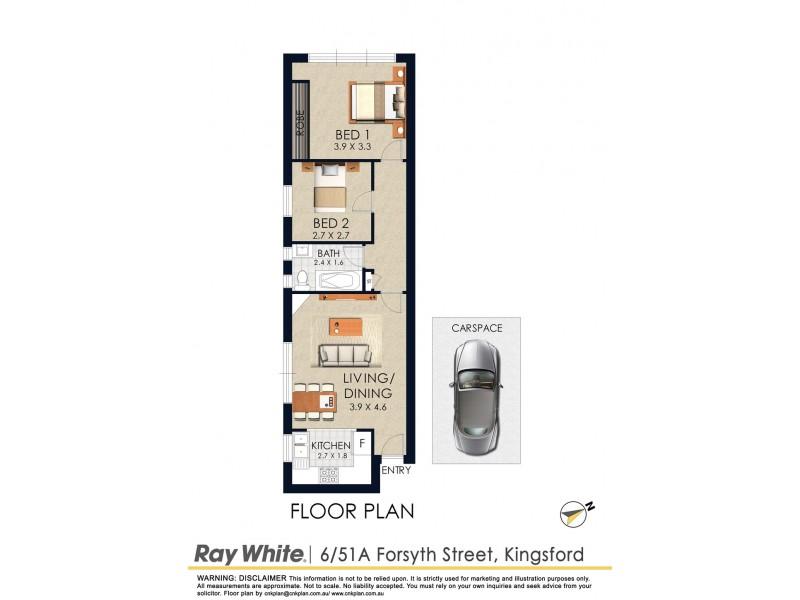 6/51a Forsyth Street, Kingsford NSW 2032 Floorplan